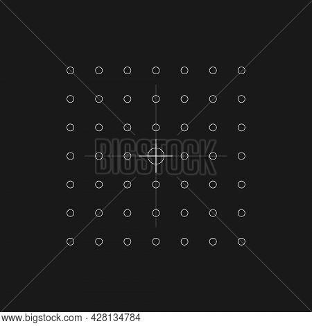 Retrofuturistic Hud Scope. Digital Cyber Retro Design Element. Scope In Cyberpunk 80s Style. Perspec