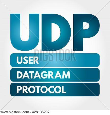 Udp - User Datagram Protocol Acronym, Technology Concept Background