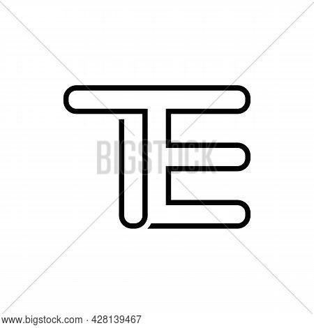 Illustration Vector Graphic Of One Line Te Letter Logo