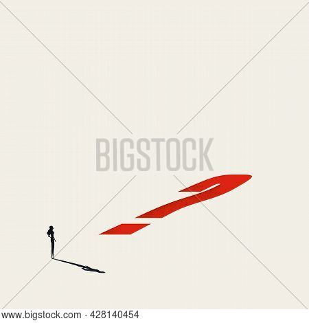 Business Decision And Future Vector Concept. Symbol Of Uncertainty, Challenge, Opportunity. Minimal