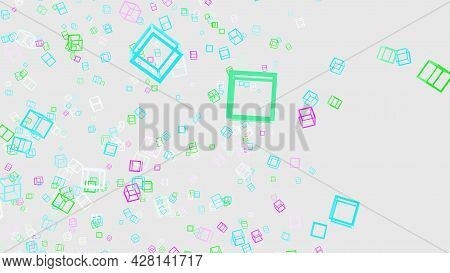 3d Rendering Of Abstract Colored Squares On A White Background Llustration Image