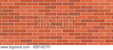 Old Grunge Red Brick Wall Texture Abstract Background Vector Illustration
