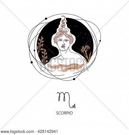 Zodiac Sign Scorpio. The Symbol Of The Astrological Horoscope.