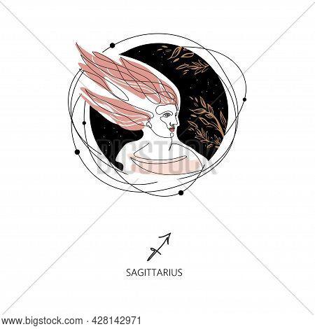 Sagittarius Zodiac Sign. The Symbol Of The Astrological Horoscope.