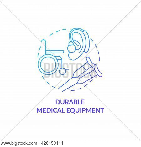 Durable Medical Equipment Concept Icon. Available Social Help. Humanitarian Aid For Clinical Facilit