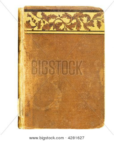 Vintage Book Cover With Decorative Trim