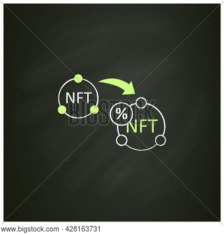 Ntf Resale Chalk Icon. Subsequent Percentage. Secondary Sale.agreement. Digitalization Concept. Isol