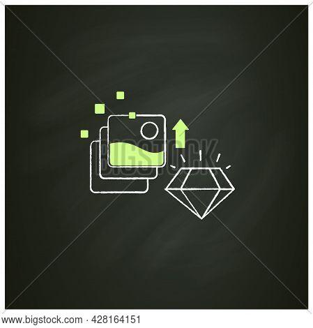 Digital Art Chalk Icon. Fine Digital Art Collection Evolution. Profitable Growth. High Quality Pictu