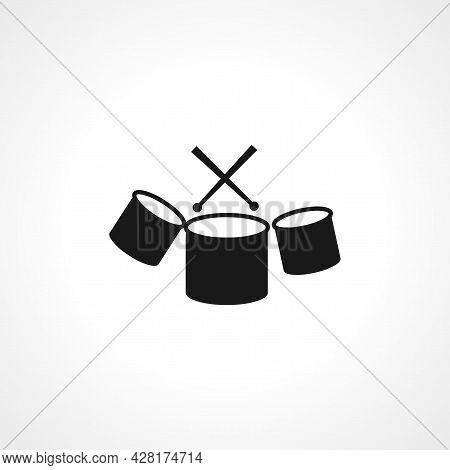Drum Icon. Drum Simple Vector Icon. Drum Isolated Icon.