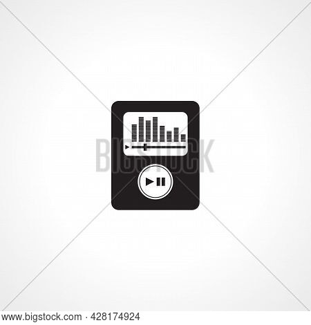 Portable Media Player Icon. Music Player Simple Vector Icon. Music Player Isolated Icon.