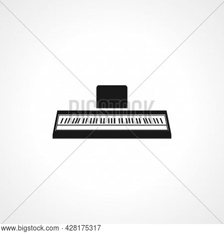 Synthesizer Icon. Synthesizer Simple Vector Icon. Piano Isolated Icon.