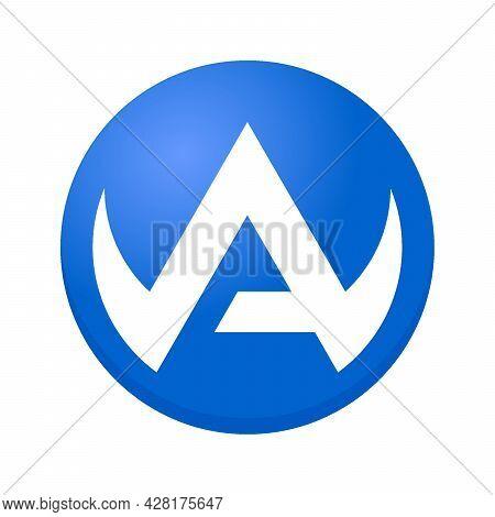 A Logo, A Letter Design Vector, A Initial Logo, A Circle Logo, A Creative Logo, A Inspiring Logo, A