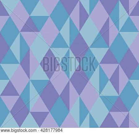 Abstract Background Pattern Seamless. Pastel Tones, Purple, Blue. Geometric, Diamond Shape, Triangle