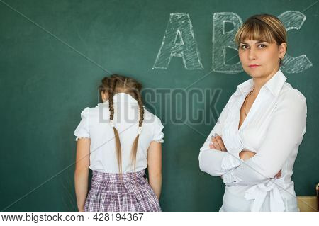 Teacher Has Punished The Schoolgirl For The Wrong Example