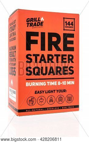 Winneconne, Wi -25 July 2021:  A Package Of Grill Trade Fire Starter Squares For Wood, Charcoal And