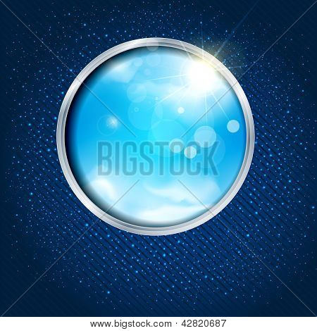 abstract background with the sky through the window