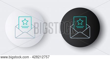 Line The Arrest Warrant Icon Isolated On Grey Background. Police Badge With Document. Warrant, Polic