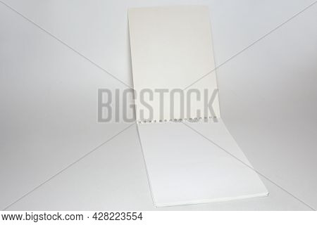 Blank Flip Notepad On A Binding Spring