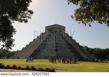 El Castillo Of Chichen Itza, Mexico. High Quality Photo
