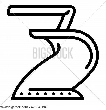 Garden Tractor Plow Icon. Outline Garden Tractor Plow Vector Icon For Web Design Isolated On White B