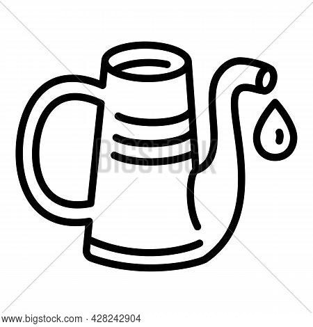 Metal Watering Can Icon. Outline Metal Watering Can Vector Icon For Web Design Isolated On White Bac