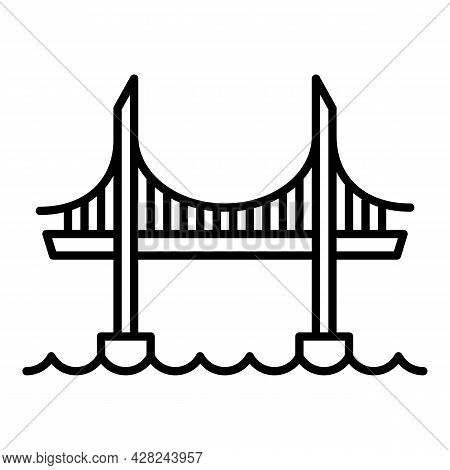 High Bridge Icon. Outline High Bridge Vector Icon For Web Design Isolated On White Background