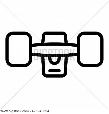 Rubber Wheels Skateboard Icon. Outline Rubber Wheels Skateboard Vector Icon For Web Design Isolated