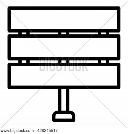 Outdoor Advertising City Billboard Icon. Outline Outdoor Advertising City Billboard Vector Icon For