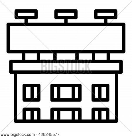 Building Outdoor Advertising Icon. Outline Building Outdoor Advertising Vector Icon For Web Design I