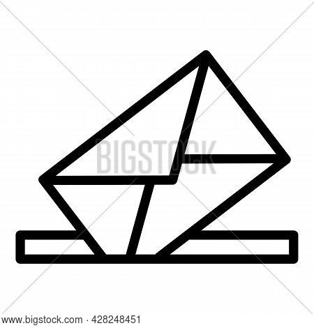 Paper Letter Icon. Outline Paper Letter Vector Icon For Web Design Isolated On White Background