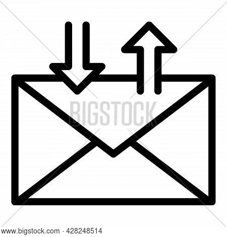 Send Letter Icon. Outline Send Letter Vector Icon For Web Design Isolated On White Background