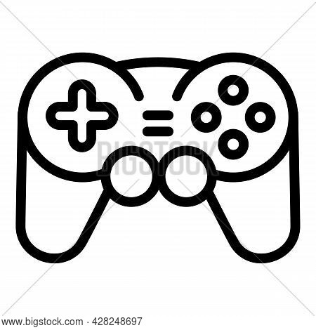 Games Joystick Icon. Outline Games Joystick Vector Icon For Web Design Isolated On White Background