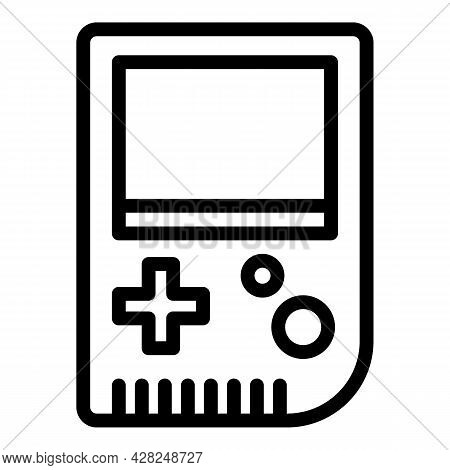 Gameboy Joystick Icon. Outline Gameboy Joystick Vector Icon For Web Design Isolated On White Backgro