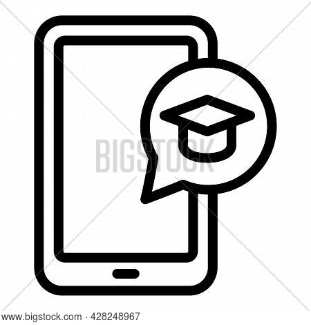 Interactive Learning Tablet Icon. Outline Interactive Learning Tablet Vector Icon For Web Design Iso