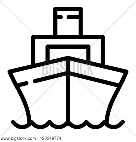 Marine Ship Icon. Outline Marine Ship Vector Icon For Web Design Isolated On White Background