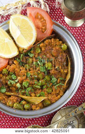 Indian food, Muter Keema