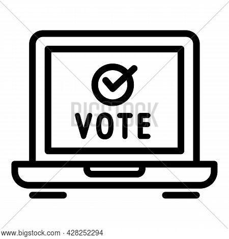Feedback Online Vote Icon. Outline Feedback Online Vote Vector Icon For Web Design Isolated On White