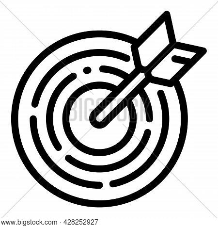 Archer Sport Target Icon. Outline Archer Sport Target Vector Icon For Web Design Isolated On White B