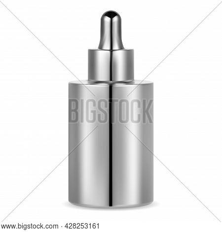 Serum Essence Bottle. Cosmetic Dropper Vial, Face Collagen. Essential Oil Bottle Mockup. Facial Care