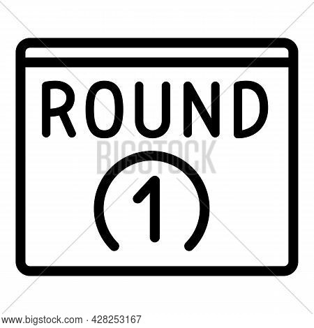 Boxing Round Icon. Outline Boxing Round Vector Icon For Web Design Isolated On White Background