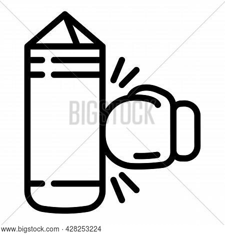 Punching Bag Icon. Outline Punching Bag Vector Icon For Web Design Isolated On White Background