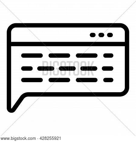 Computer Chatbot Icon. Outline Computer Chatbot Vector Icon For Web Design Isolated On White Backgro