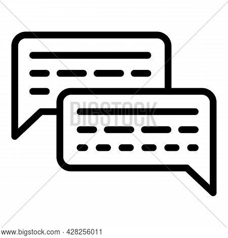 Service Chatbot Icon. Outline Service Chatbot Vector Icon For Web Design Isolated On White Backgroun