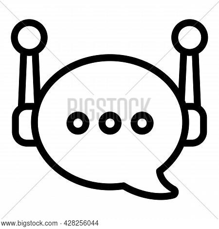 Review Chatbot Icon. Outline Review Chatbot Vector Icon For Web Design Isolated On White Background
