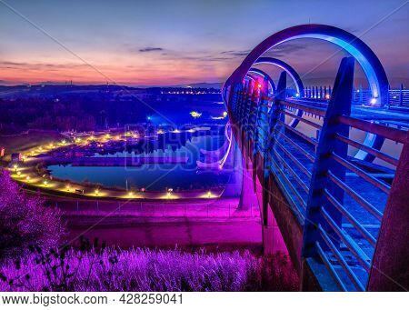 The Canal Basin At The Falkirk Wheel