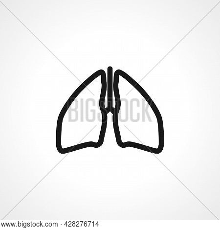 Lungs Icon. Lungs Simple Vector Icon. Lungs Isolated Icon.