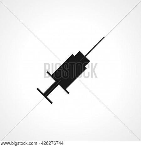 Syringe, Injection Icon. Syringe, Injection Simple Vector Icon. Syringe, Injection Isolated Icon.
