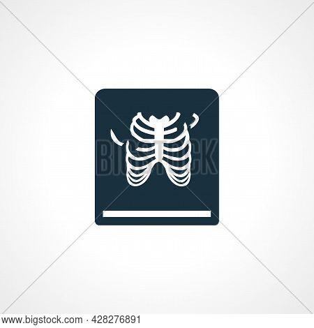 Rontgen, X-ray Icon. Broken Ribs Icon. X-ray Icon.