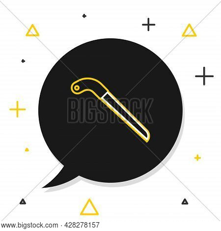 Line Fertilizer Bag Icon Isolated On White Background. Colorful Outline Concept. Vector