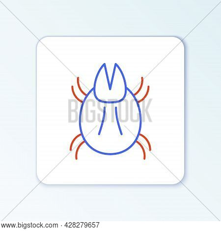 Line Parasite Mite Icon Isolated On White Background. Colorful Outline Concept. Vector